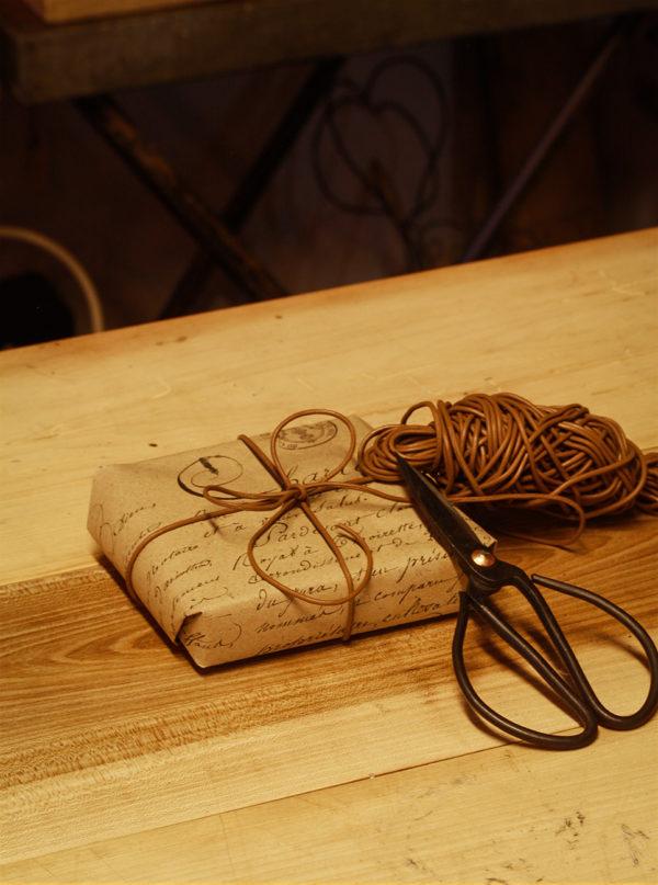 Brun lædersnor