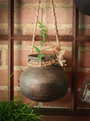 Håndlavet lerkrukke