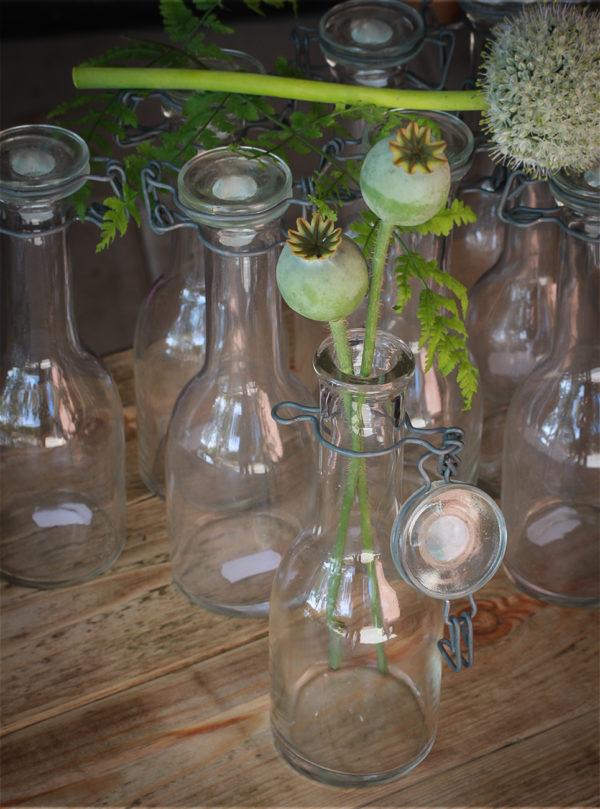 Glasflasker med patentlåg