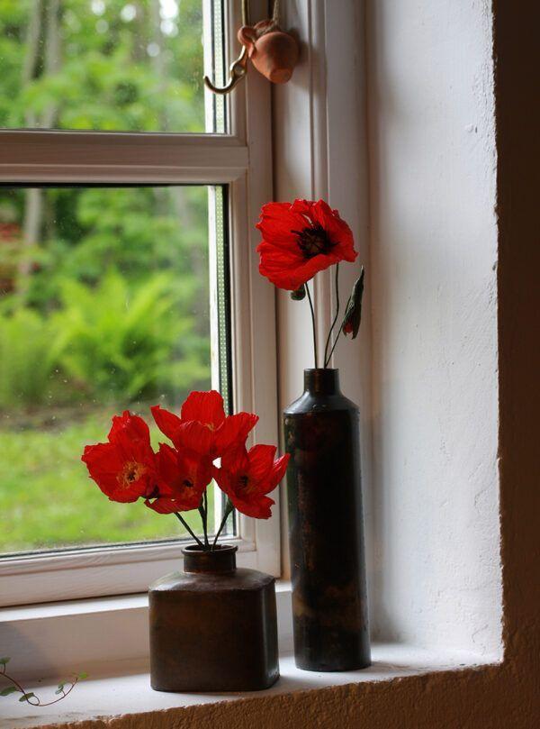 blomster lavet af crepepapir