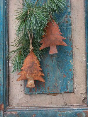 juletræ i rustmetal
